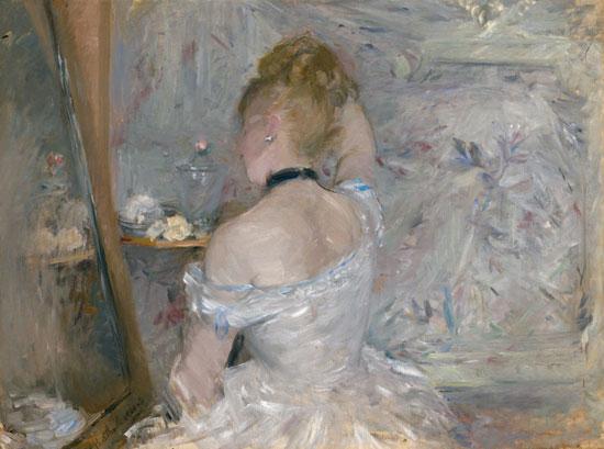 Donna alla toilette di Berthe Morisot