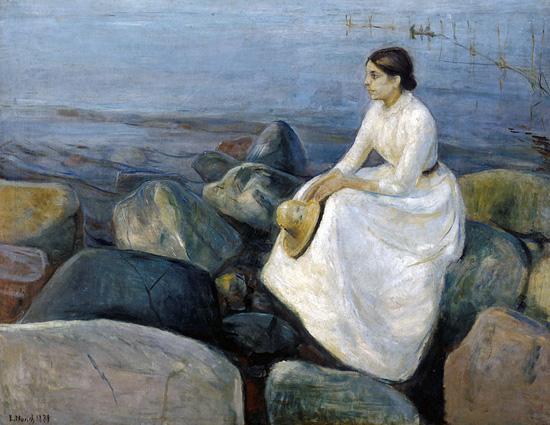 Inger sulla spiaggia di Edvard Munch