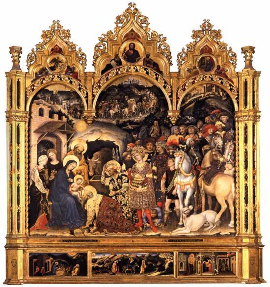 Adorazione dei magi di gentile da fabriano finestre sull - Finestre sull arte ...