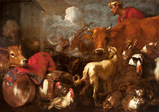 Entrata degli animali nell'arca di Noè di Giovanni Benedetto Castiglione detto il Grechetto