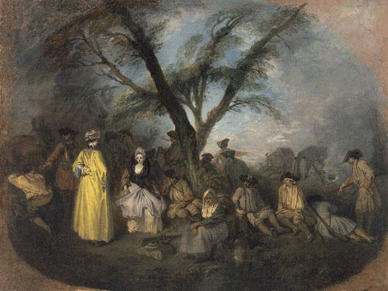 Il riposo di Jean-Antoine Watteau