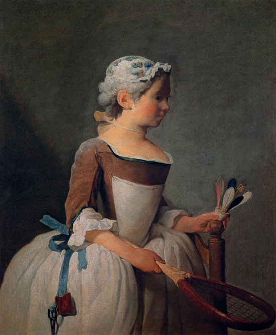 Ragazza con volano di Jean-Baptiste-Siméon Chardin