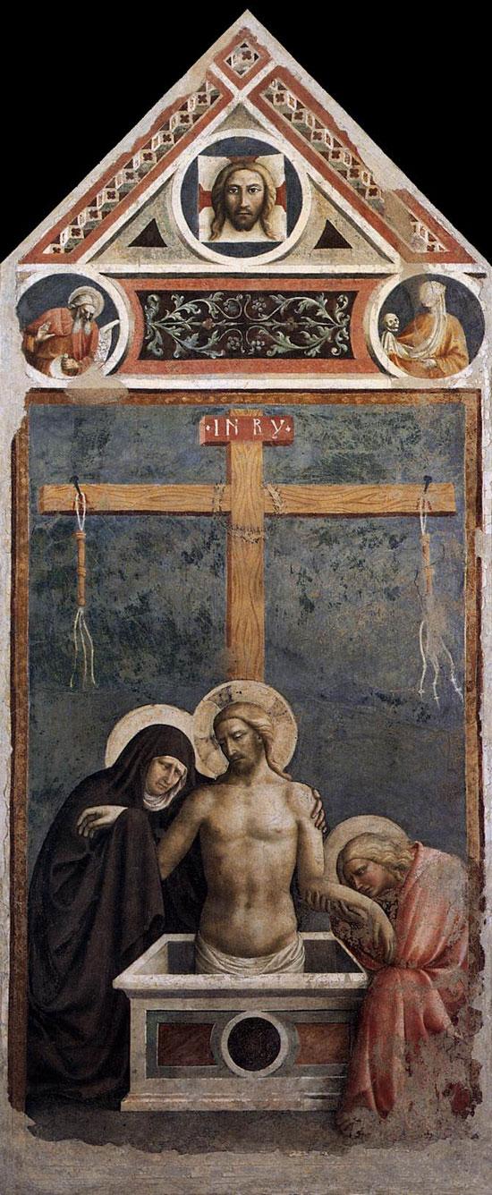 Cristo in pietà di Masolino da Panicale