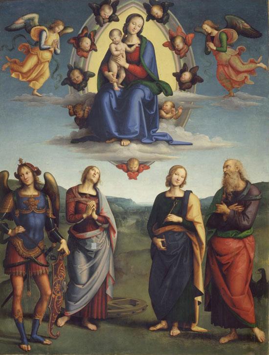 Madonna in gloria con Bambino e santi di Perugino