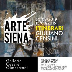 Giuliano Censini. Itinerari. Alla Galleria Cesare Olmastroni di Siena dal 30 agosto al 15 settembre 2019