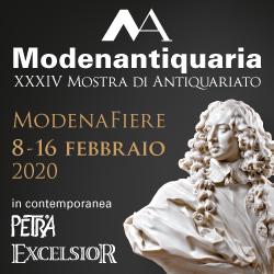 Modenantiquaria, XXXIV Mostra di Antiquariato. Modena Fiere, 8-16 febbraio 2020