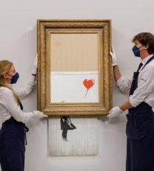 Banksy, operazione commerciale riuscita: l'opera tritata venduta a una cifra record