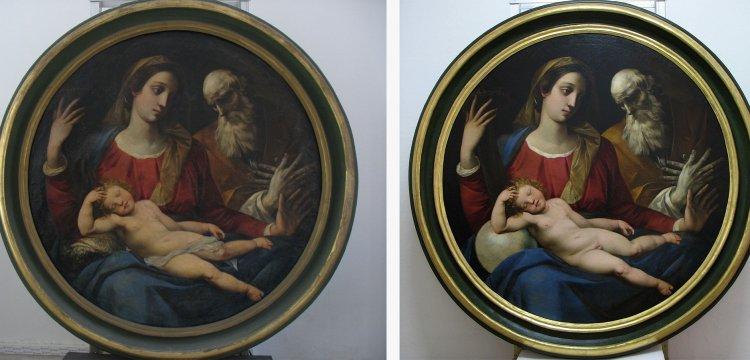 Ferrara, termina il restauro della Sacra Famiglia del Cavalier d'Arpino