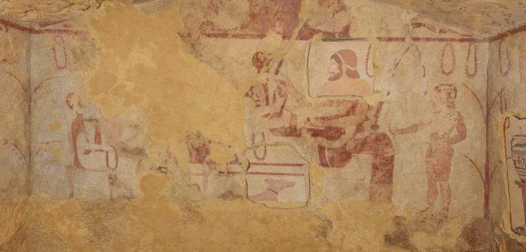 Tarquinia, termina il restauro della Tomba dei Vasi Dipinti, importante tomba etrusca
