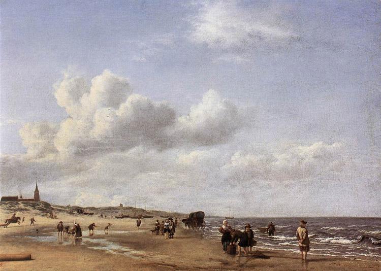 La spiaggia di Scheveningen di Adriaen van de Velde