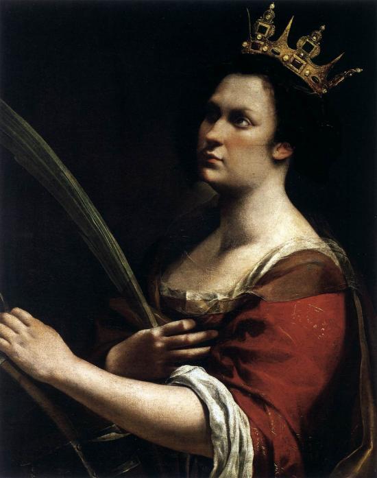 Santa Caterina d'Alessandria di Artemisia Gentileschi