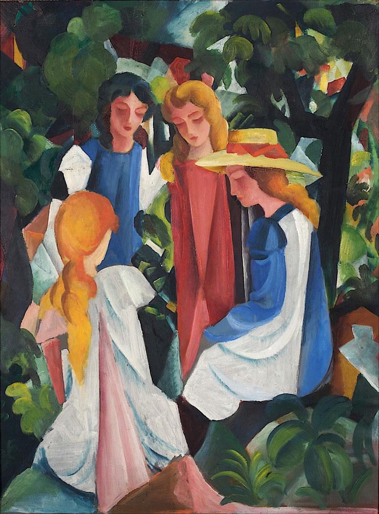 Quattro ragazze di August Macke