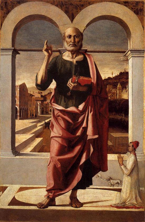 San Pietro e un donatore di Bartolomeo Montagna