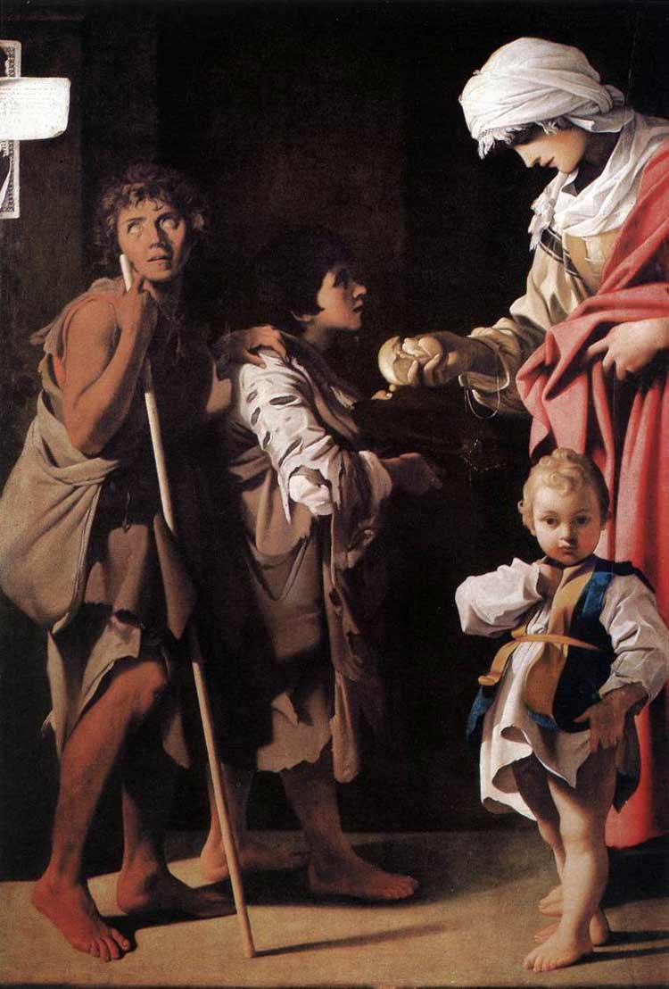 Elemosina di santa Elisabetta d'Ungheria di Bartolomeo Schedoni