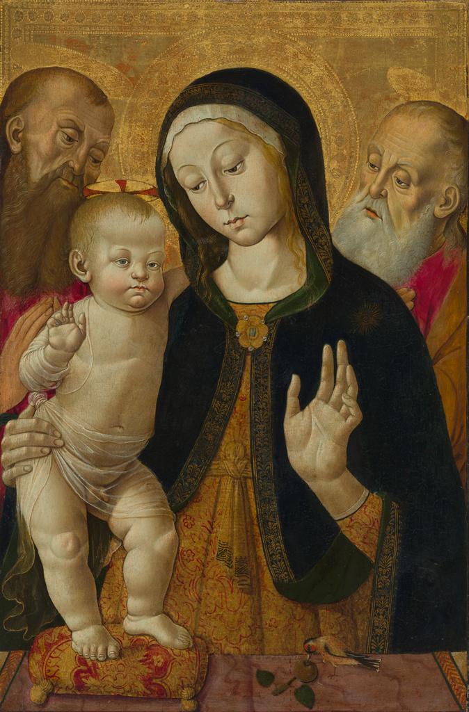 Madonna col Bambino e due santi eremiti di Bernardino Fungai