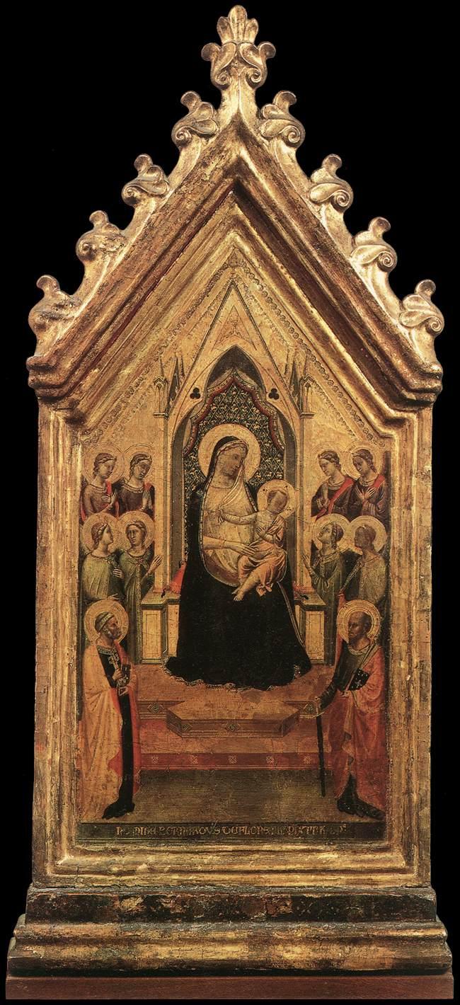 Madonna in trono con angeli e santi di Bernardo Daddi