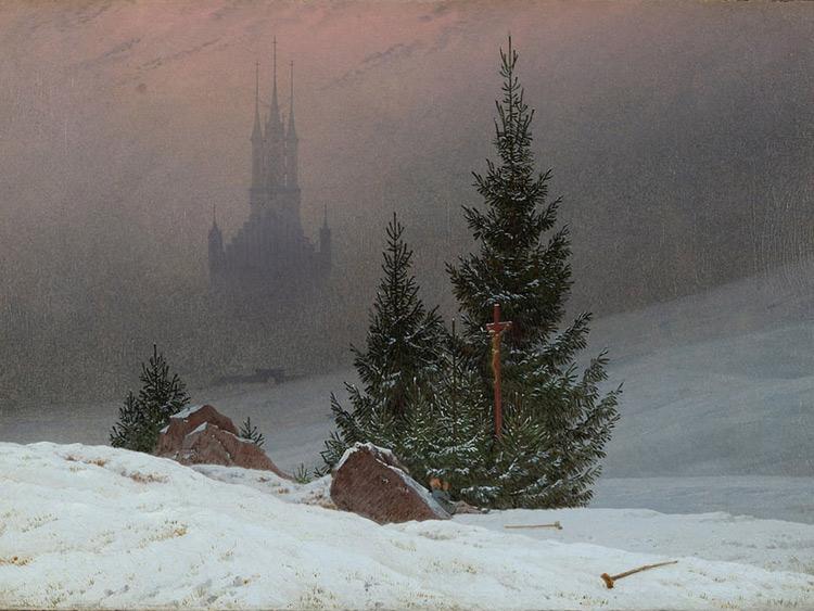 Paesaggio invernale di Caspar David Friedrich