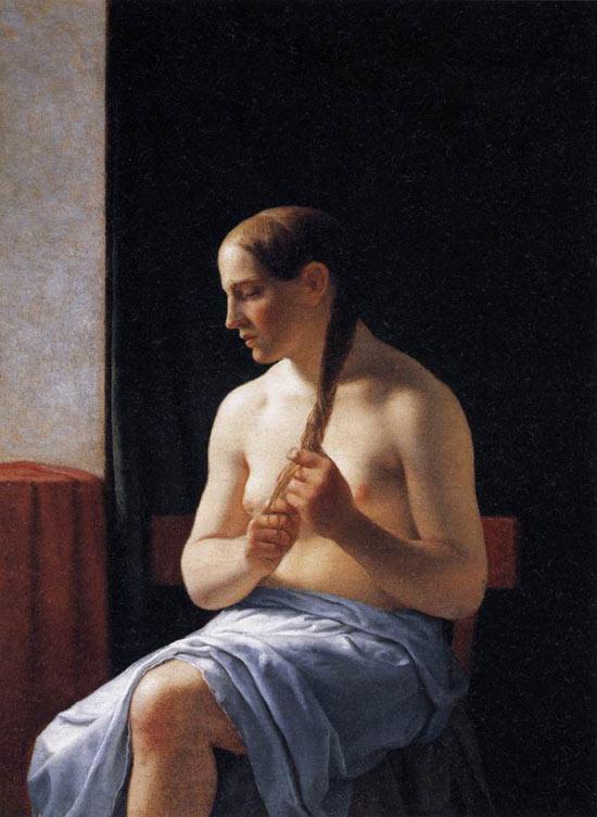 Modella nuda seduta di Christoffer Wilhelm Eckersberg