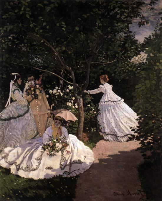 Donne in giardino di Claude Monet