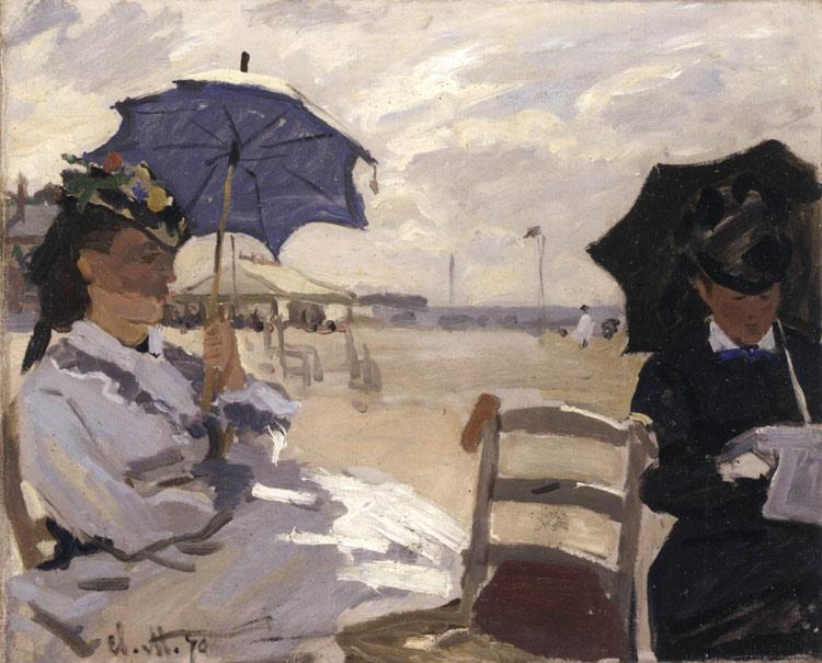 La spiaggia di Trouville di Claude Monet