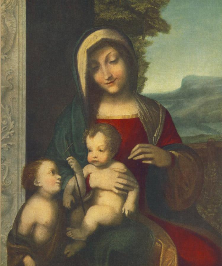 Madonna col Bambino e san Giovannino di Correggio