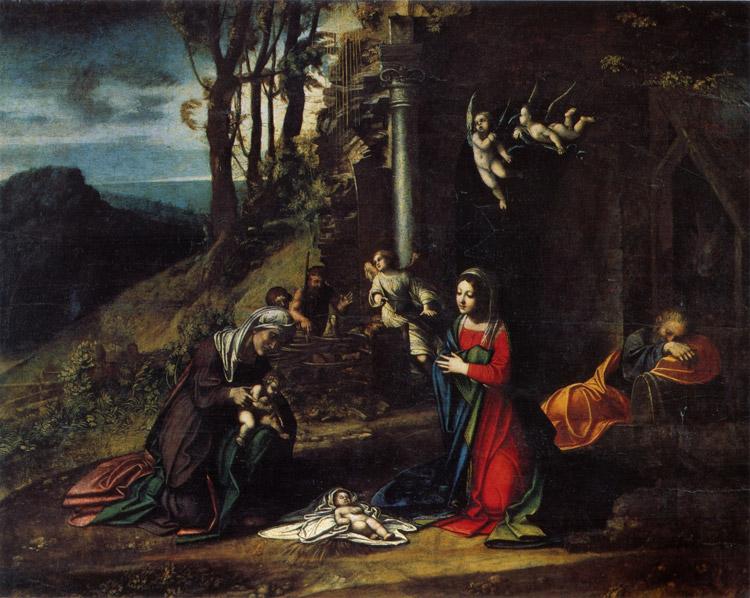 Natività con i santi Elisabetta e Giovannino di Correggio