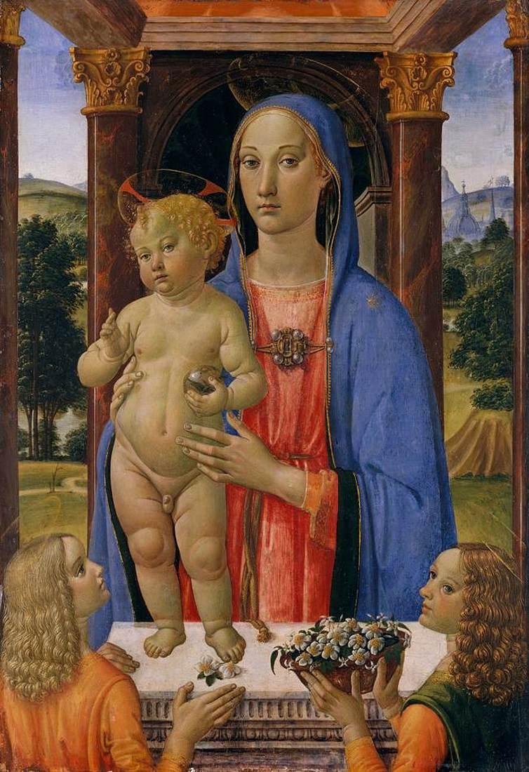 Madonna con Bambino e angeli di Cosimo Rosselli