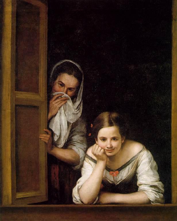 Donne alla finestra di Esteban Murillo