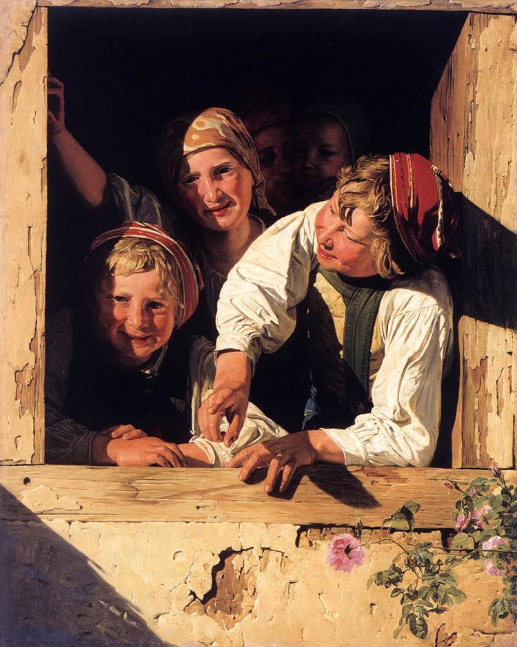 Bambini alla finestra di Ferdinand Georg Waldmueller