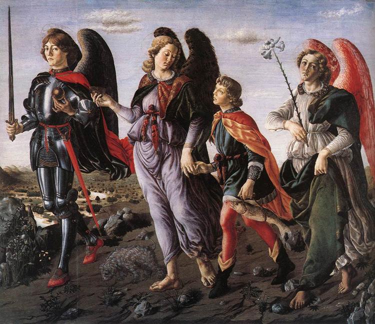 I tre arcangeli di Francesco Botticini