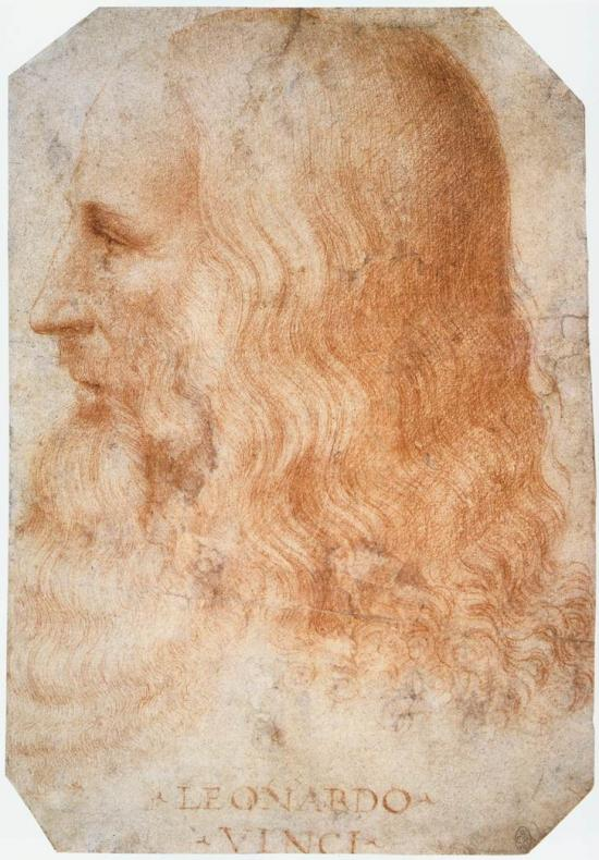 Francesco Melzi, Ritratto di Leonardo da Vinci (1510 circa; sanguigna su carta, 275 x 190 mm; Windsor, Royal Collection)