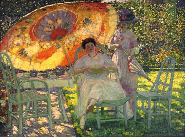 L'ombrellone da giardino di Frederick Carl Frieseke