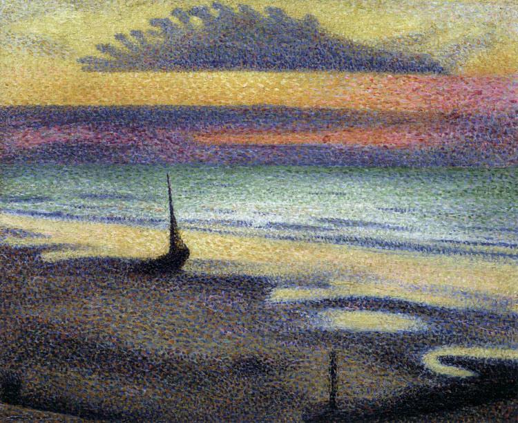 La spiaggia di Heist di Georges Lemmen