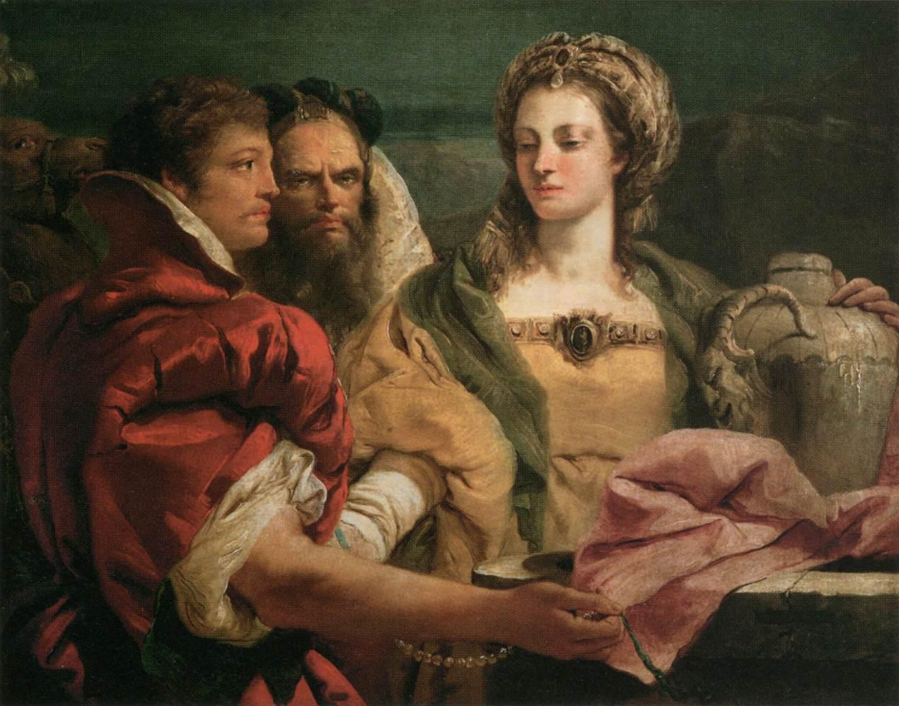 Rebecca al pozzo di Giandomenico Tiepolo