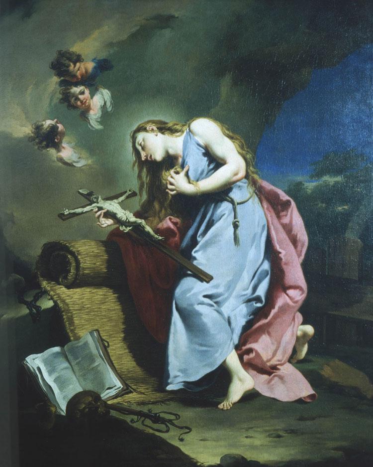 Maddalena penitente che adora il crocifisso di Giovanni Battista Pittoni