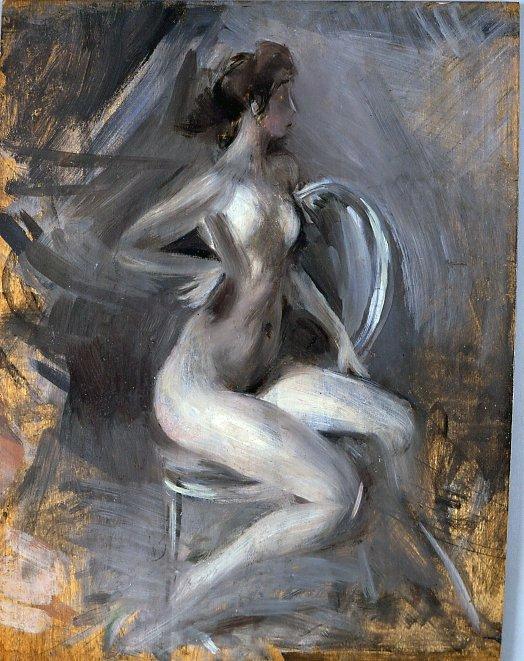 Nudino scattante di Giovanni Boldini