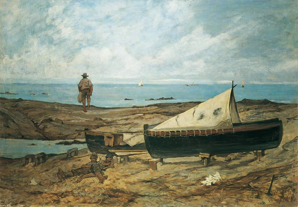 Sulla spiaggia di Giovanni Fattori