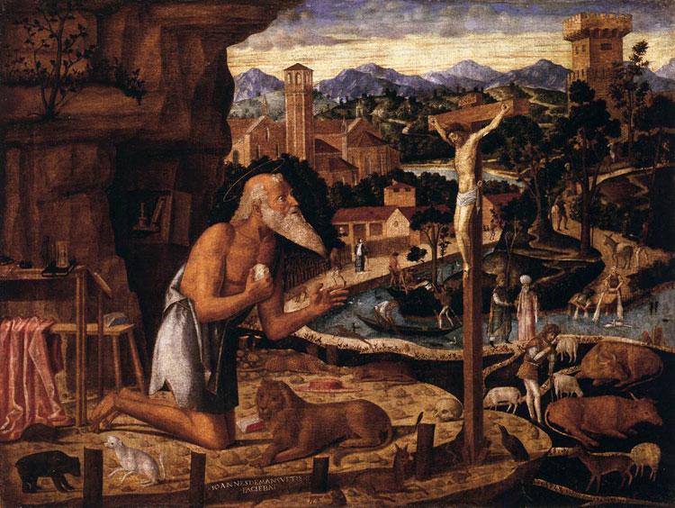 San Girolamo penitente di Giovanni Mansueti