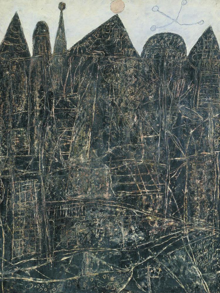 Grande paesaggio nero di Jean Dubuffet