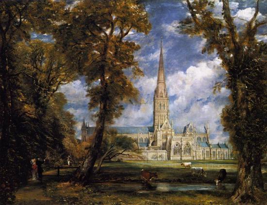 La Cattedrale di Salisbury vista dai giardini del vescovo di John Constable