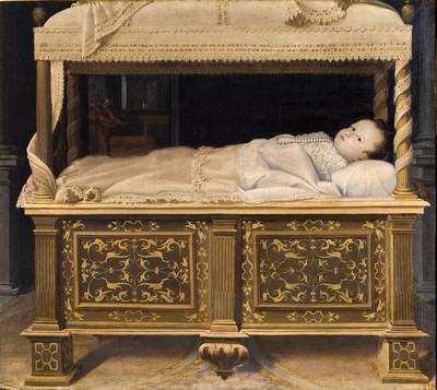 Neonata nella culla di Lavinia Fontana