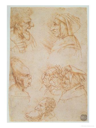 Sette teste grottesche di Leonardo da Vinci