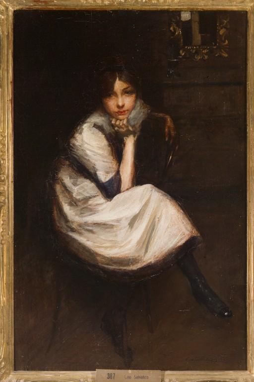 Ritratto di giovanetta seduta di Lino Selvatico