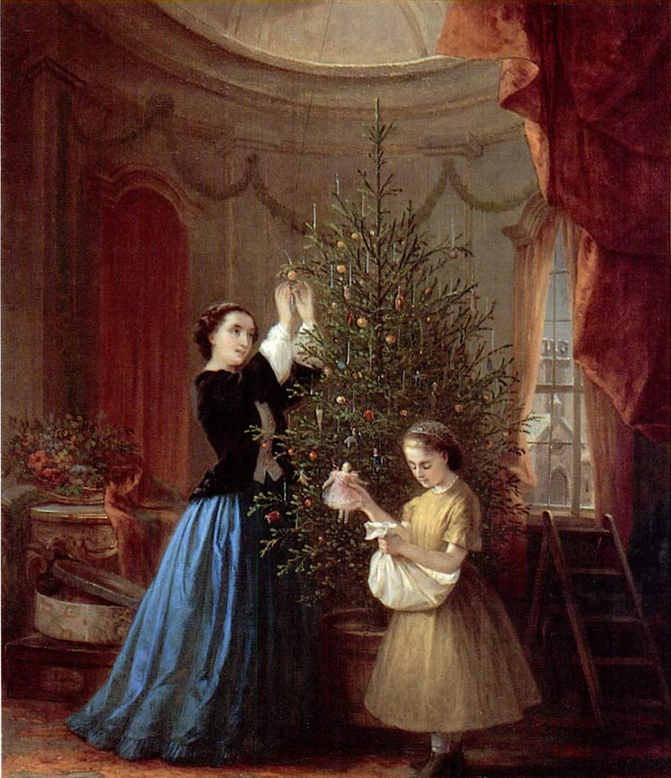 Addobbando l'albero di Natale di Louis Lang