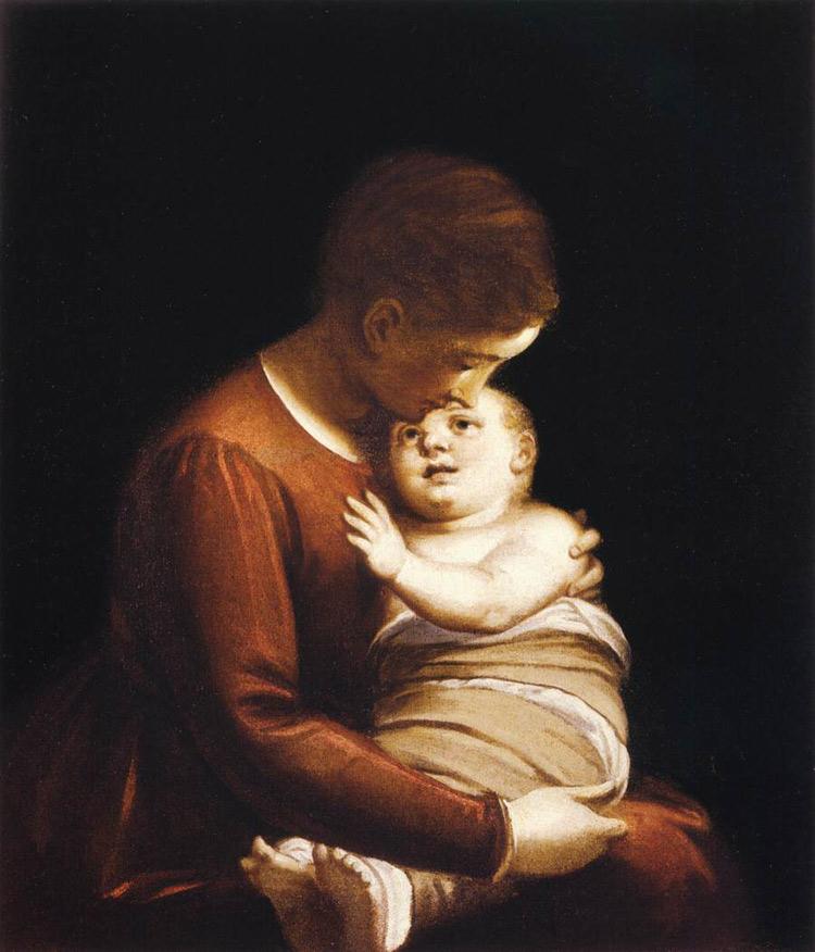 Madonna col Bambino in fasce di Luca Cambiaso