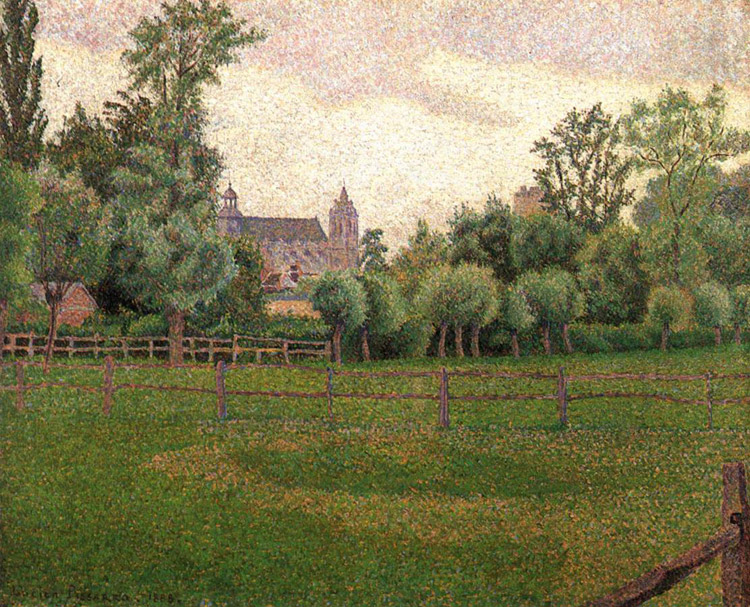 La chiesa di Gisors di Lucien Pissarro