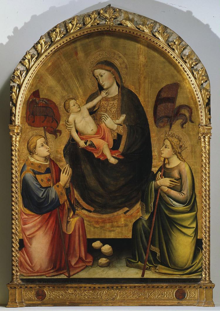 Madonna dell'Umiltà celeste tra i santi Stefano e Reparata di Mariotto di Nardo