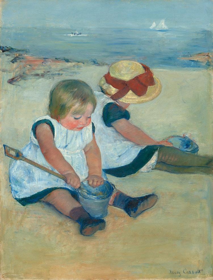 Bambine sulla spiaggia di Mary Cassatt