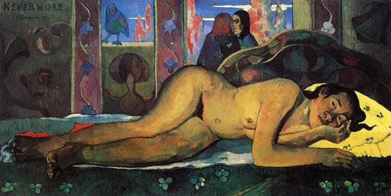 Nevermore di Paul Gauguin