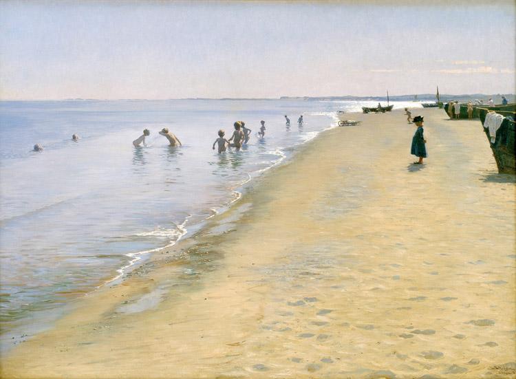 Giornata estiva alla spiaggia di Skagen di Peder Severin Krøyer
